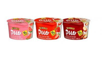 Foto de Lançamento inédito no Brasil para comer de colher: Duo Tirolez, Queijo Cottage com geleia de frutas